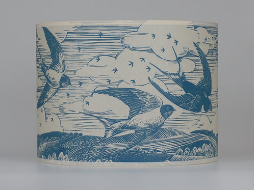 swallow lampshade, blue. From £50