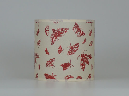 Moth lampshade, red