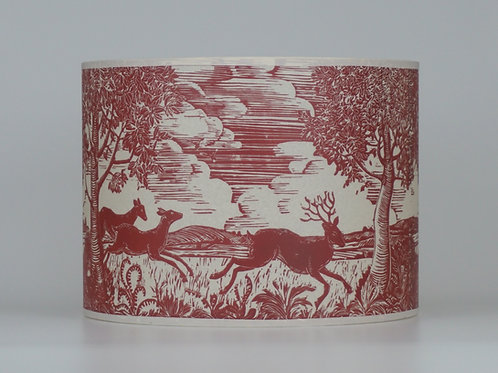 Running deer lampshade, red. From £55