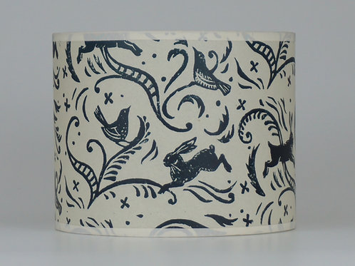 Leaping hare lampshade, dark blue. from £35