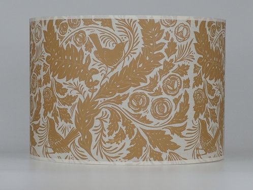William's Garden lampshade, ochre. From £35