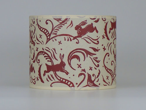 Leaping hare lampshade, red. from £35