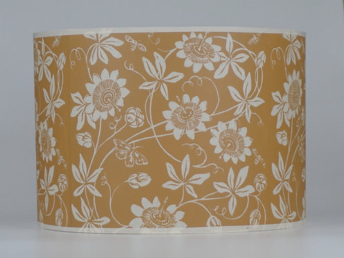 Passionflower lampshade, ochre. From £45