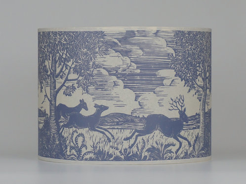 Running deer lampshade, grey. From £55