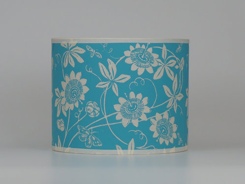 Passionflower lampshade, turquoise