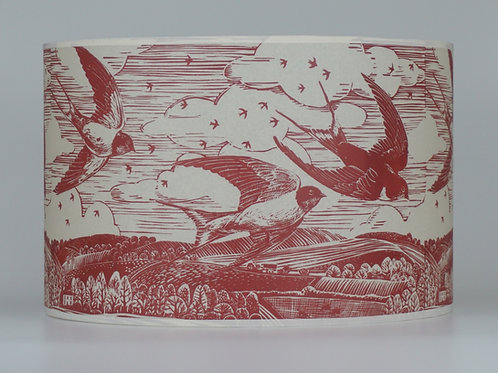 swallow lampshade, red. From £50
