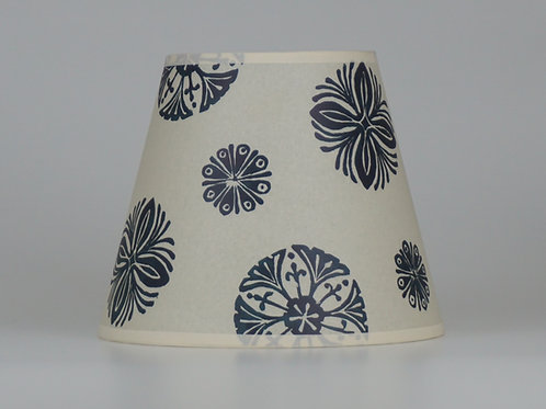 Bloom lampshade, dark blue. From £50