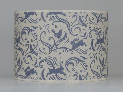 Leaping hare lampshade, grey. from £35