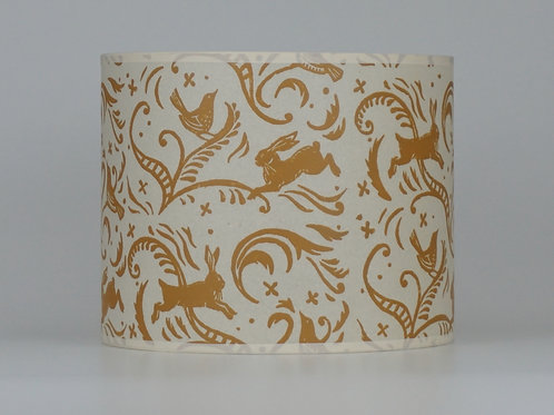 Leaping hare lampshade, ochre. from £35