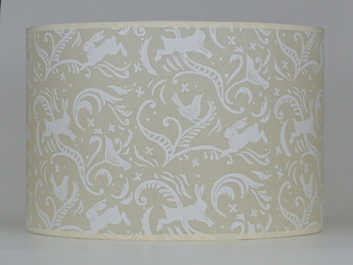 Leaping hare lampshade, white