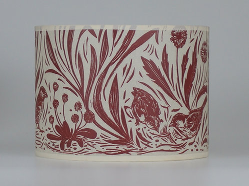 Sparrow lampshade,red. From £45