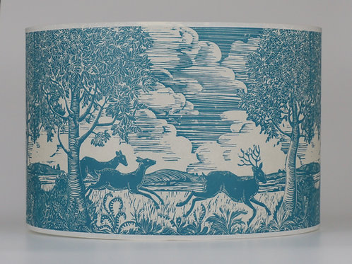 Running deer lampshade, blue. From £55