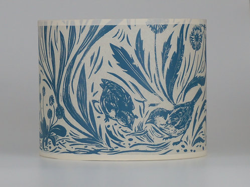 Sparrow lampshade, blue. From £45