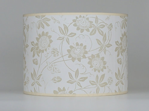 Passionflower lampshade, white. From £45