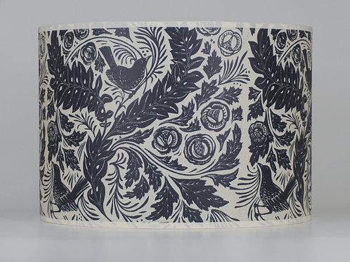 William's Garden lampshade, dark blue. From £35