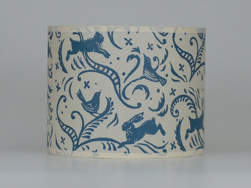 Leaping hare lampshade, blue. from £35
