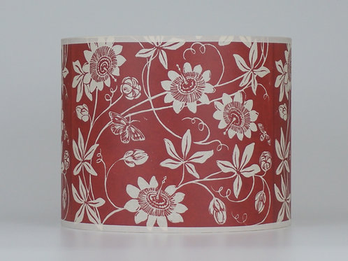 Passionflower lampshade, red. From £45