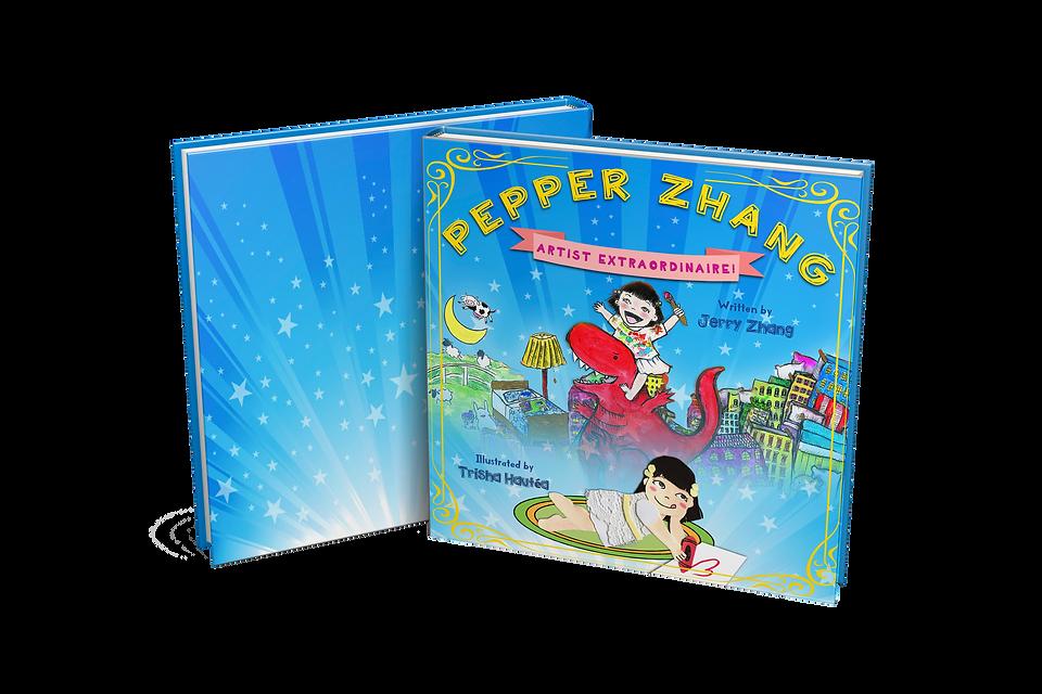 Pepper Zhang book mockup spread