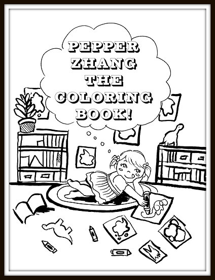 Pepper Zhang Digital Coloring Book