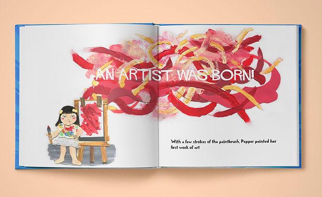 Pepper Zhang artist extraordinaire spread