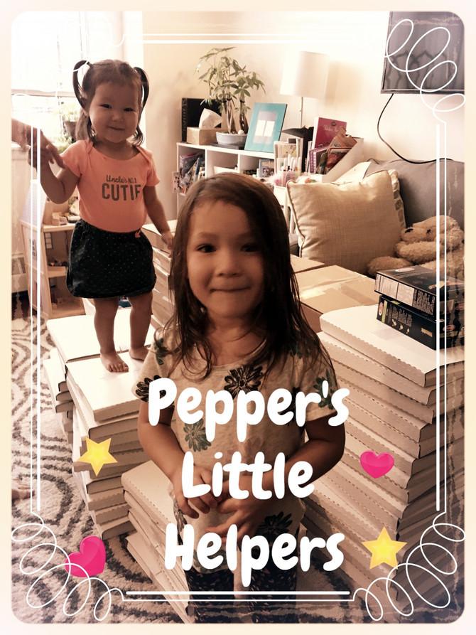 Packing 1,000+ Pepper Zhang books...