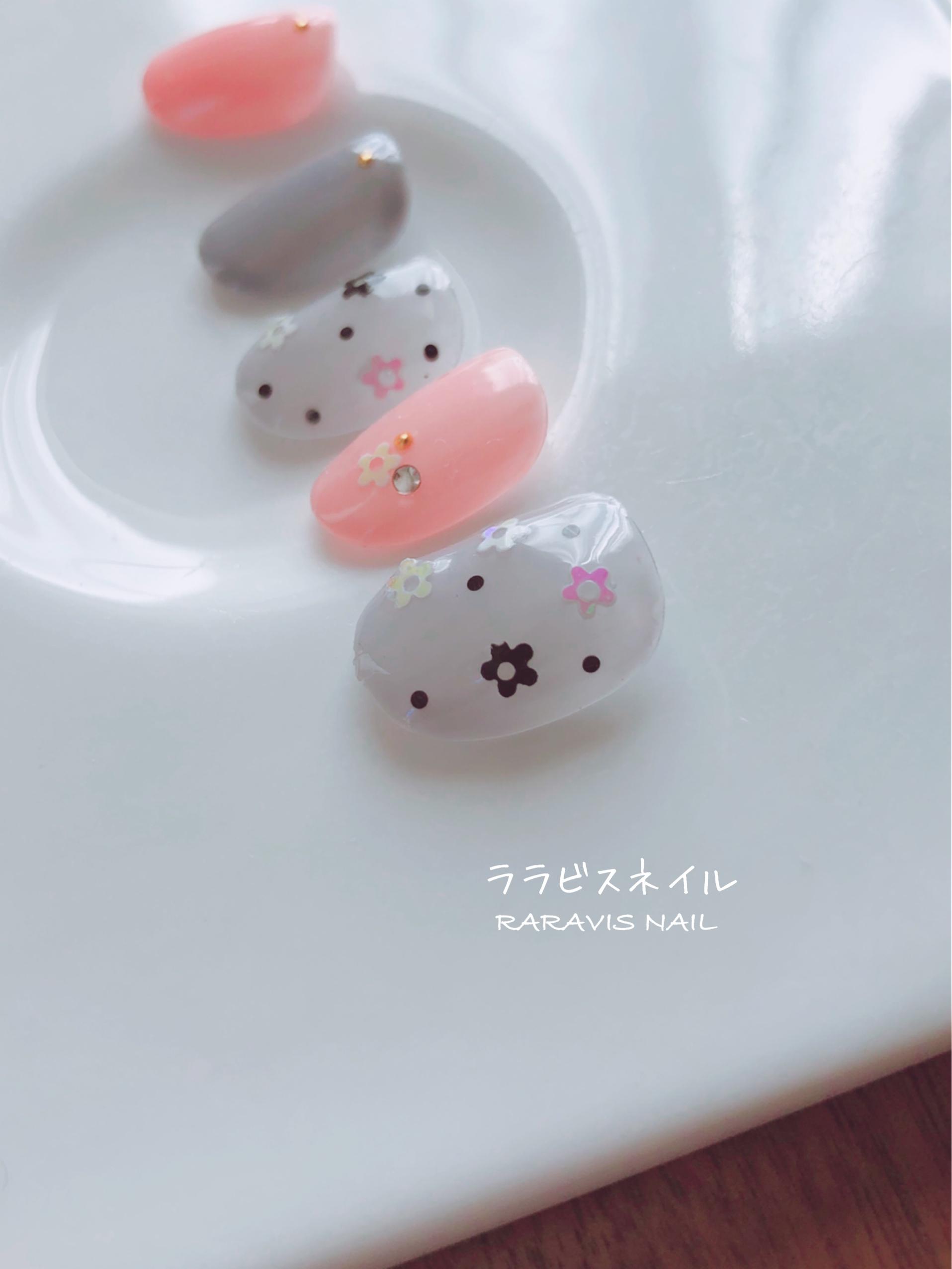 小花ホログラムネイル