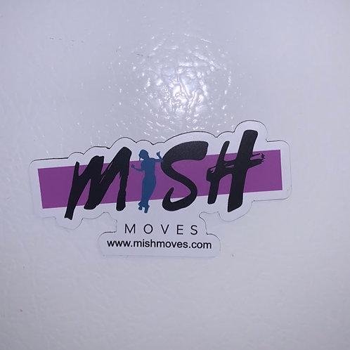 Mish Moves Refrigerator Magnet