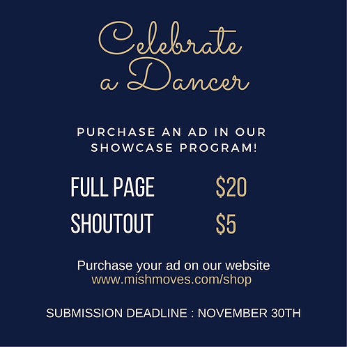 Full Page Ad - Showcase Program