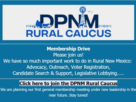 New Mexico Rural Caucus Updates