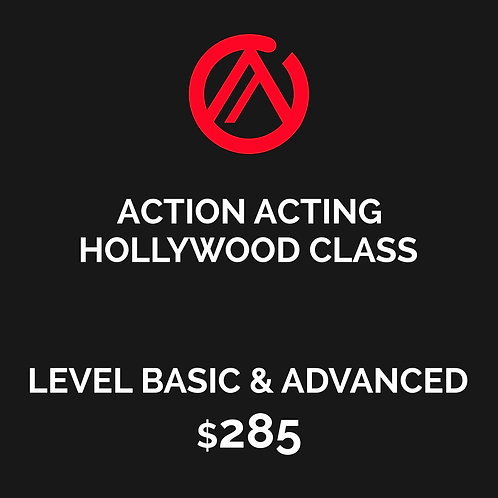 HOLLYWOOD CLASS - ACTION ACTING MASTER WORKSHOP - LEVEL BASIC & ADVANCED