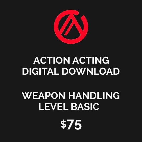 DIGITAL DOWNLOAD - WEAPONG HANDLING FOR FILM & TV - LEVEL BASIC