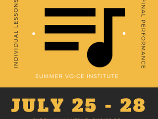 Summer Voice Institute - UPDATE