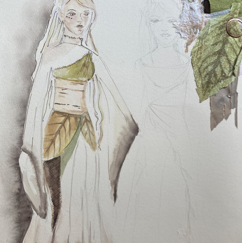 Rendering of forest fae Puppet. Designed by Sarah Gahagan.