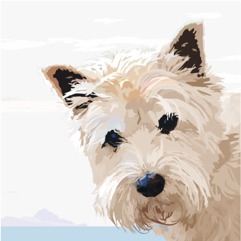 Westie and the Sea Greeting Card