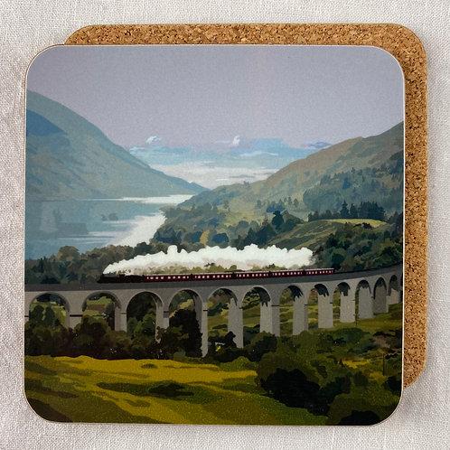 Glenfinnan Train Coaster Set