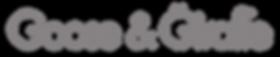 Goose & Giraffe logo (Silver transparent