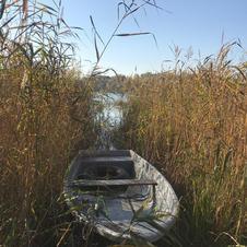 Rowing boat awaits