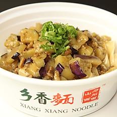 B3. Eggplant & Pork Sauced Noodle 肉沫茄子面