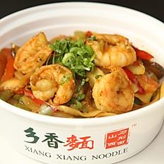C5. Garlic Shrimp Fried Noodle 蒜蓉虾仁炒面