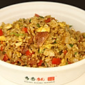 D2. Bacon & Ham Soy Sauce Egg Fried Rice 培根火腿酱油蛋炒饭