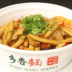 C2. Shanxi Fried Pork Scissors Cut Noodle 山西炒剪刀面