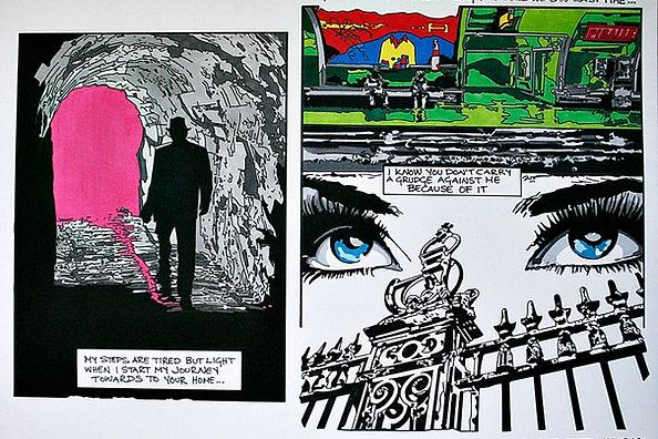 Illustration. Graphic novel. Ink drawing.
