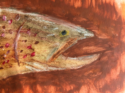 Colorado Gold by Wyatt DePriest. Painting of a fish.