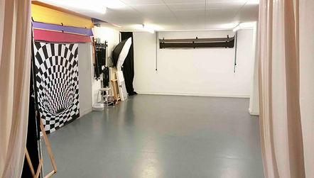 Der Fotobereich des Studios mit 2 Sets