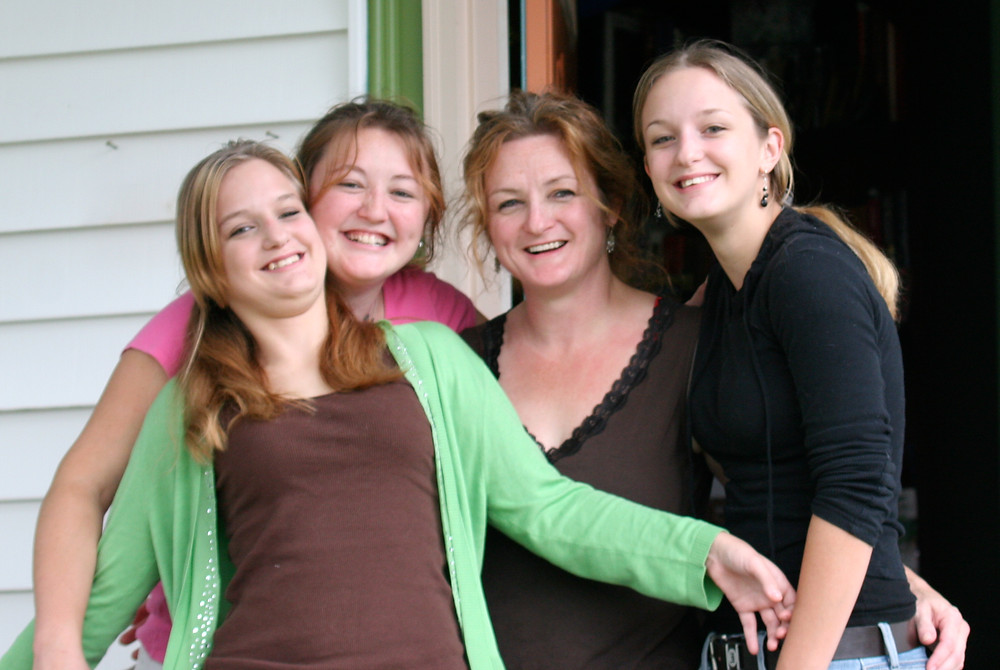 The Wolfpack - my sister Samantha, me, my Mom, and sister Shaina