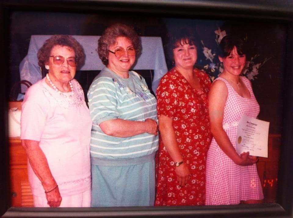 4 Generations of Women -  Nana, Grammie, Mom and I - 8th Grade Graduation