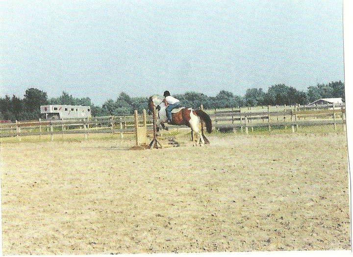Me jumping Rocky Road
