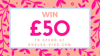 WIN £50 to Spend at Khalsa-Kids.com - a competition open to all