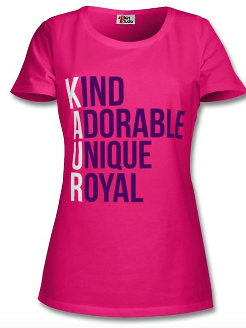 Adult Kaur Acrostic T-Shirt
