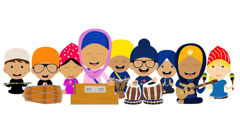 Khalsa Kids singing keertan